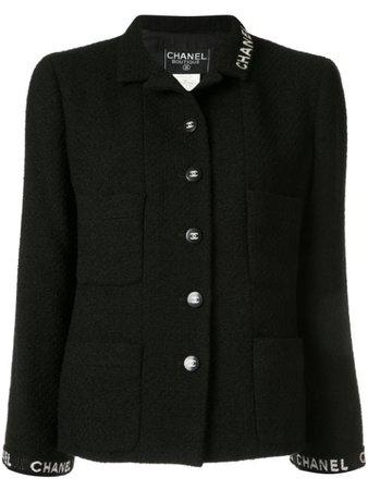 Chanel Pre-Owned Blazer Droit à Logo - Farfetch