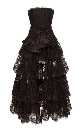 Tiered Lace Gown by Oscar de la Renta | Moda Operandi