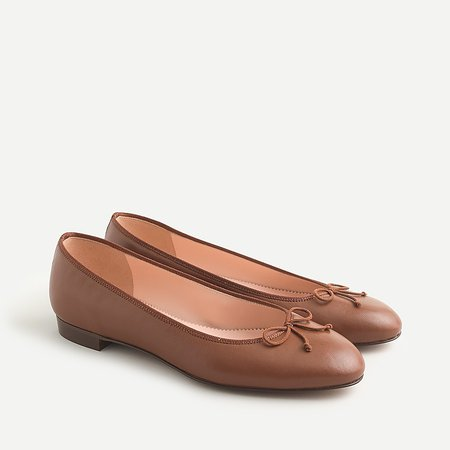 J.Crew: Kiki Ballet Flats For Women brown