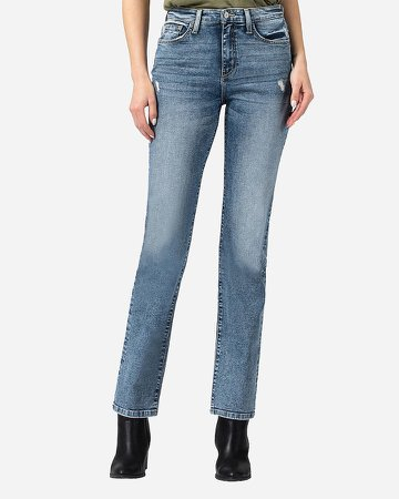 Flying Monkey High Waisted Slim Straight Jeans