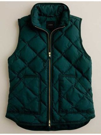 hunter green quilted vest