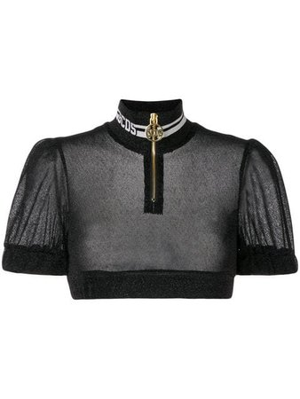 Gcds short-sleeve cropped top
