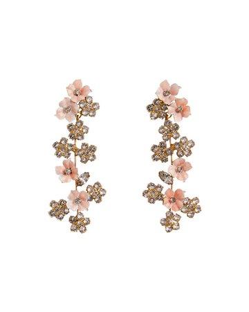 Jennifer Behr Delphine Crystal Violet Earrings | Neiman Marcus
