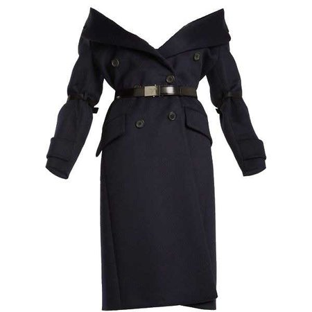 PRADA Off-The-Shoulder wool-blend Coat