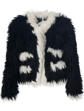 Chanel Pre-Owned Cropped Faux Fur Jacket - Farfetch