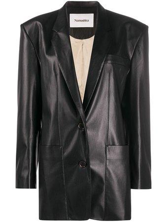 Nanushka Evan Oversized Leather Blazer - Farfetch
