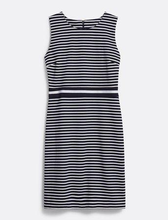 Striped Ponte Sheath Dress*