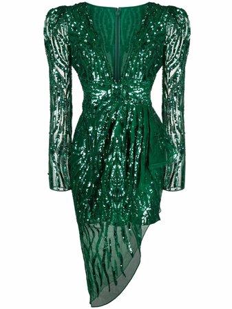 Zuhair Murad Draped sequin-embellished Dress - Farfetch
