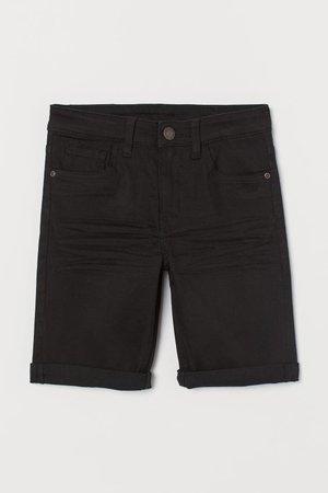 Twill Shorts - Black - Kids | H&M US