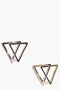 Elena Prism 3D Stud Earrings