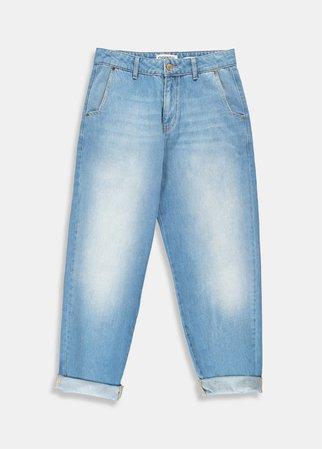 Blue cotton boyfriend jeans