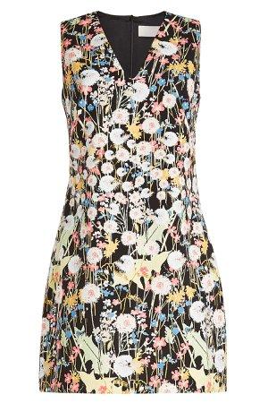 Printed V-Neck Dress Gr. UK 6