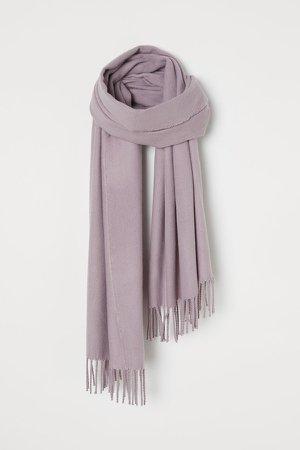 Scarf with Fringe - Purple