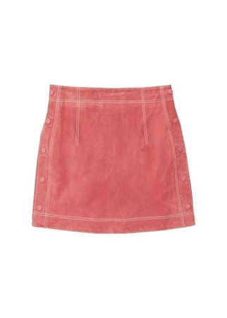 MANGO Stitch leather skirt