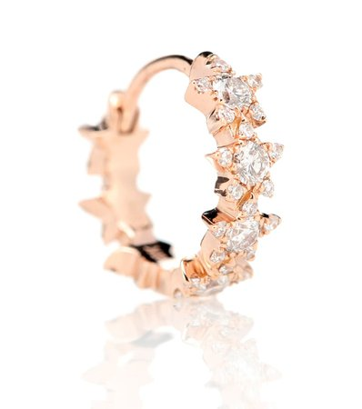 8Mm Diamond Constellation Eternity Ring 18Kt Rose Gold And Diamond Earring | Maria Tash - mytheresa