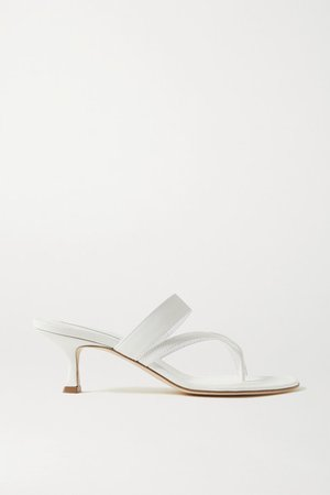 Susa Leather Sandals - White