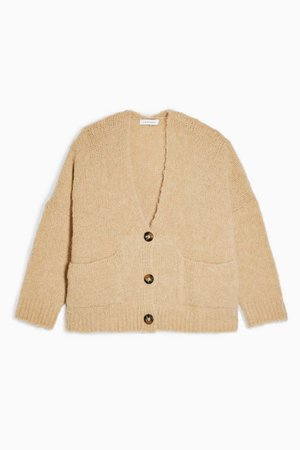 Oat Oversized Button Cardigan | Topshop