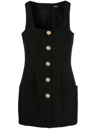 Balmain square-neck sleeveless dress