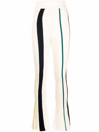 AMBUSH Ribbed Stripe straight-leg Trousers - Farfetch