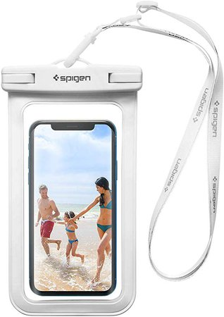 Spigen Waterproof Phone Pouch, IPX8 Certified Waterproof Case [Compatible Face ID] Dry Bag for XR/X/8/7/7 Plus/6S/6S Plus/S10/S9/S8/S8 Plus/S7/S7 Edge and More - A600 - White: Amazon.co.uk: Electronics