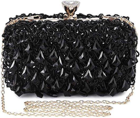 Clocolor Evening Bags and Clutches for Women Sequins Purse Beads Clutch Handbag (Black): Handbags: Amazon.com