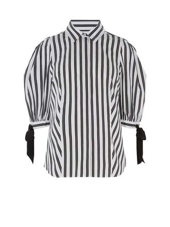 Karen Millen Balloon Sleeve Shirt - House of Fraser