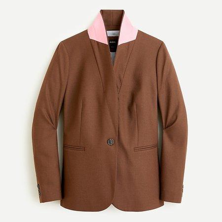 J.Crew: Parke Blazer In Wool Flannel For Women brown