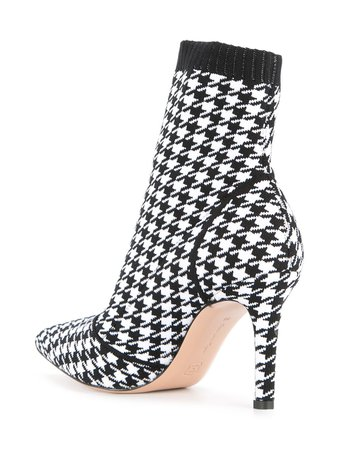 Gianvito Rossi Houndstooth Print Sock Boots - Farfetch