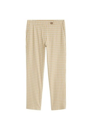 MANGO Straight checkered trousers