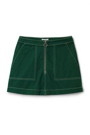Piet Mini Skirt - Dark Green - Skirts - Weekday GB