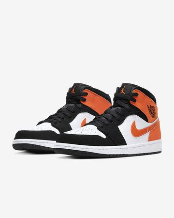 Air Jordan 1 Mid Shoe Orange