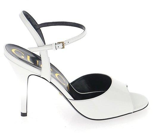 Peep-Toe Stiletto Heel Sandals