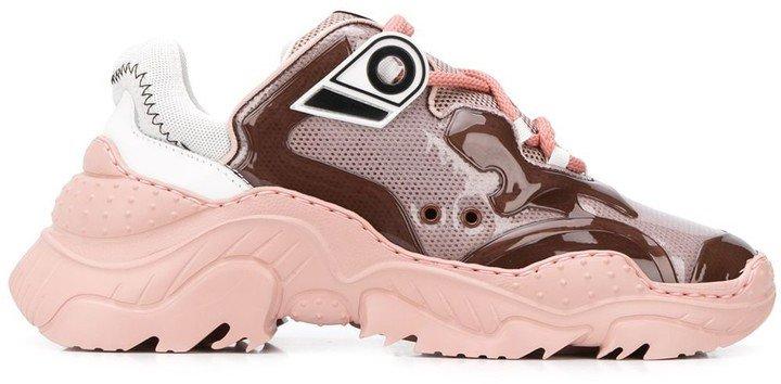 Mesh Panel Low-Top Sneakers