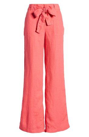 Caslon® Linen Pants (Regular & Petite)   Nordstrom