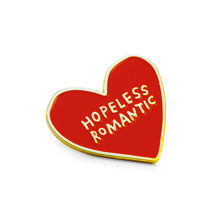 "Hopeless Romantic"" Pin 