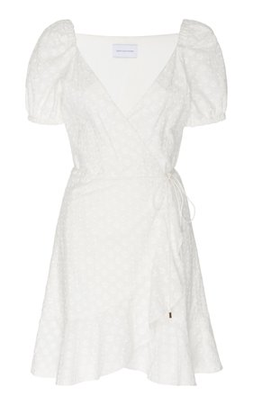 Significant Other Symphony Cotton Wrap Mini Dress