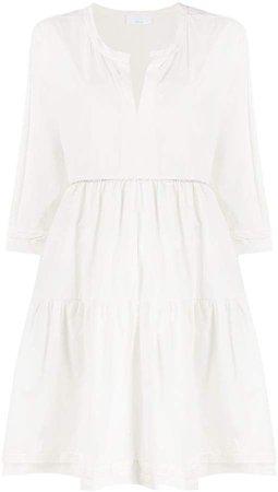 Rhinestone-Embellished Flared Dress