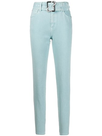 Just Cavalli Belted high-rise Skinny Jeans - Farfetch