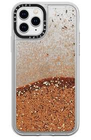gold glitter iphone