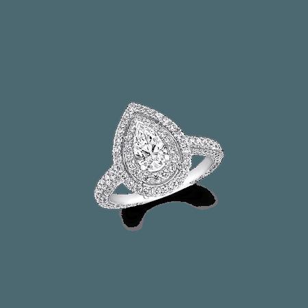 Graff Twin Constellation Pear Shape Diamond Engagement Ring