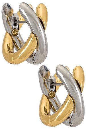 Gold and Silver X Hoops