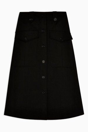 **Black Utility Skirt By Topshop Boutique | Topshop