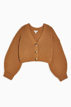 Camel Knitted Cardigan and Trousers Set | Topshop