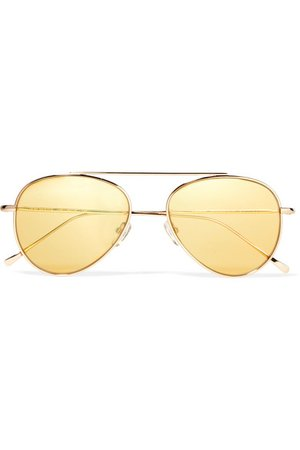 Dorchester aviator-style gold-tone sunglasses