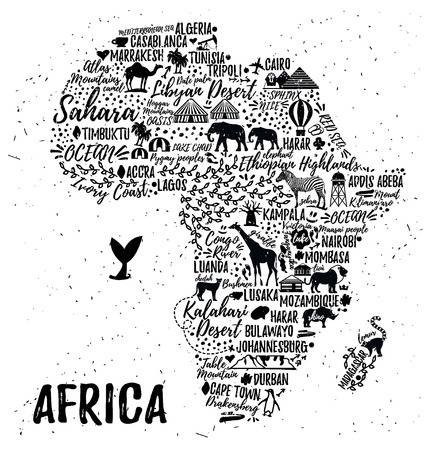 africa map in text - Google Search