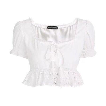 Puff Sleeve White Blouse