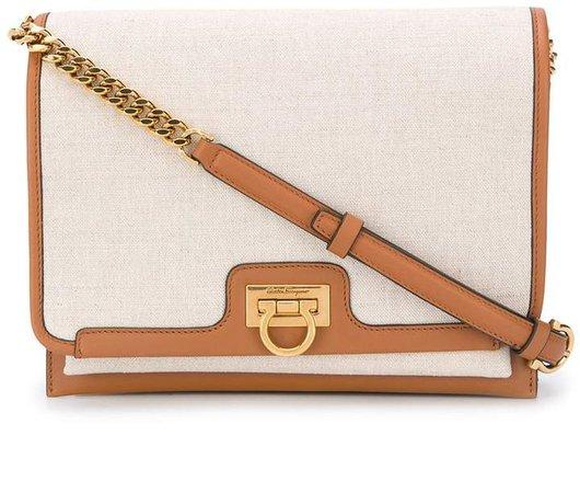 Trifolio flap shoulder bag