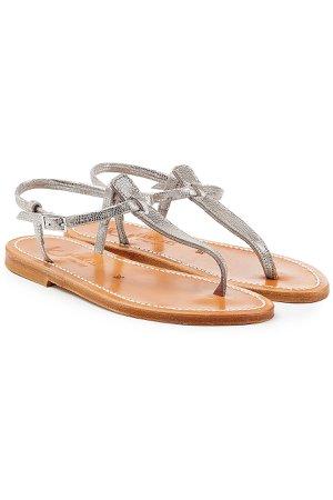 Metallic Leather Sandals Gr. IT 41