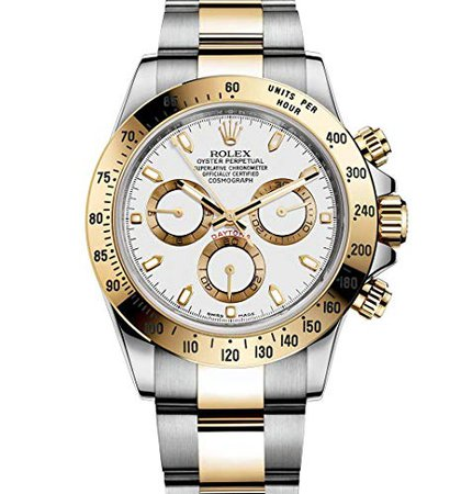 Amazon.com: Rolex Daytona Grey Chronograph Steel And Yellow Gold Mens Watch 116523GYSO: Rolex: Watches