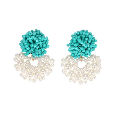 JESSICABUURMAN – KAVOE Bi-Color Beaded Earrings - Pair